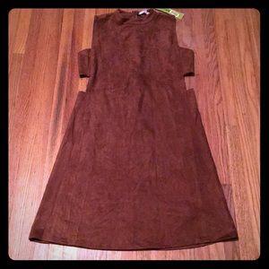 NWT Gianni Bini Faux Suede Dress size XS